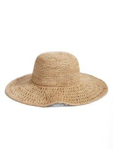 Nordstrom Open Weave Raffia Floppy Brim Hat