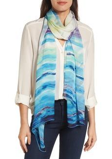 Nordstrom Paradise Stripe Silk Scarf