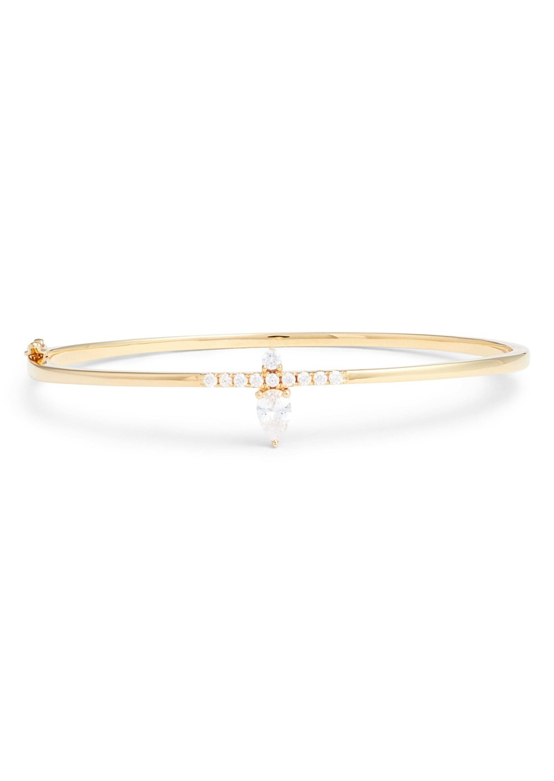 Nordstrom Pavé & Pear Stone Hinge Bracelet