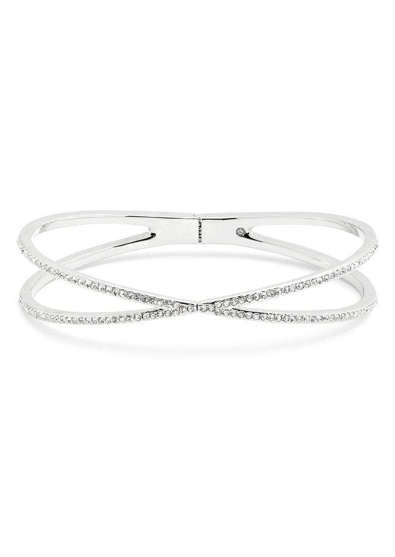 Nordstrom Pavé Crisscross Hinged Cuff Bracelet