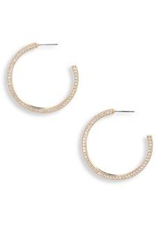 Nordstrom Pavé Cubic Zirconia Hoop Earrings