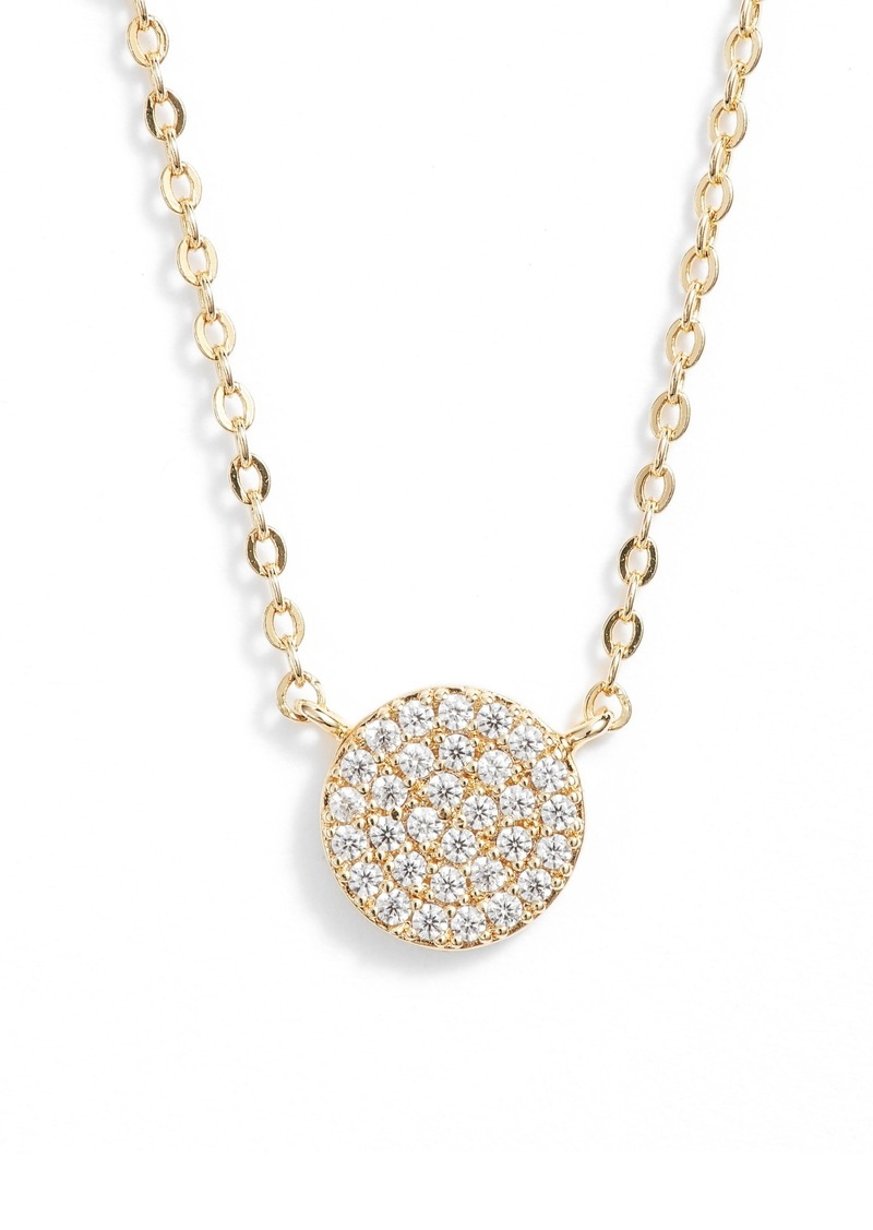 Nordstrom Pavé Disc Pendant Necklace