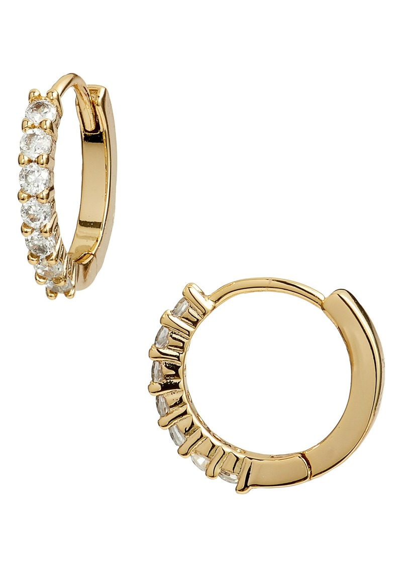 Nordstrom Pavé Half Stone Huggie Hoop Earrings