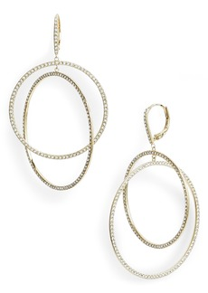Nordstrom Pavé Intertwined Circle Hoop Earrings