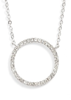 Nordstrom Pavé Open Circle Pendant Necklace