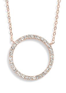 Nordstrom Pavé Open Circle Pendant Necklace