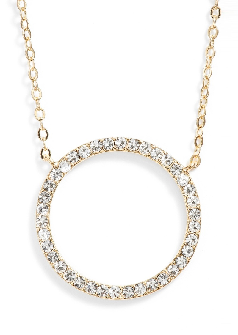 6060ef935 Nordstrom Nordstrom Pavé Open Circle Pendant Necklace   Jewelry