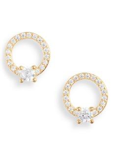Nordstrom Pavé Open Circle Cubic Zirconia Stud Earrings