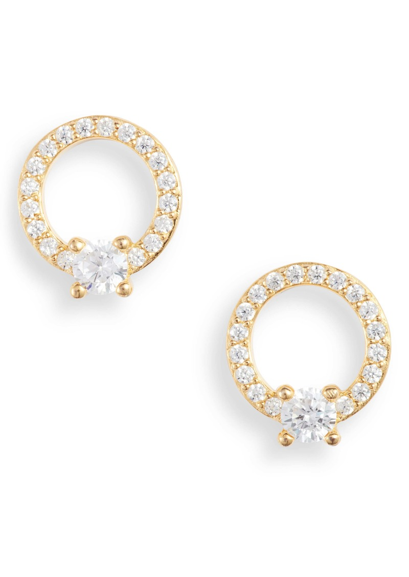 Nordstrom Pavé Open Circle Cubic Zirconia Stud Earrings