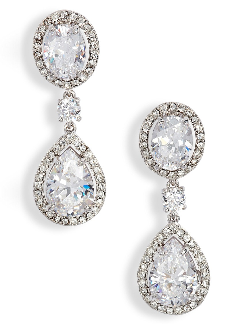 Nordstrom Pavé Cubic Zirconia Teardrop Earrings