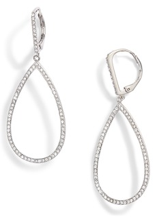 Nordstrom Pavé Teardrop Hoop Earrings