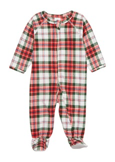 Nordstrom Plaid One-Piece Pajamas (Baby)