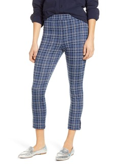 Nordstrom Plaid Ponte Crop Leggings