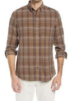 Nordstrom Plaid Stretch Flannel Button-Down Shirt