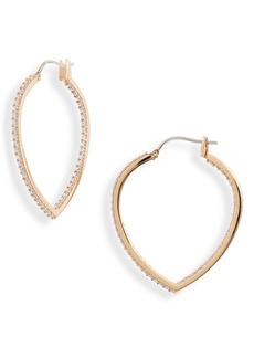 Nordstrom Pointed Oval Pavé Inside-Out Hoop Earrings