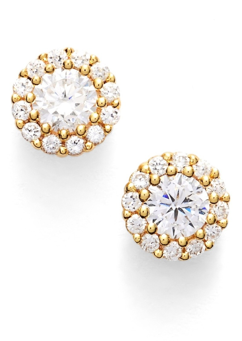 Nordstrom Precious Metal Plated Cubic Zirconia Stud Earrings