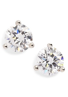 Nordstrom Precious Metal Plated 1ct tw Cubic Zirconia Earrings