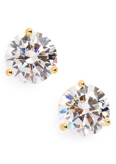 Nordstrom Precious Metal Plated 3ct tw Cubic Zirconia Earrings