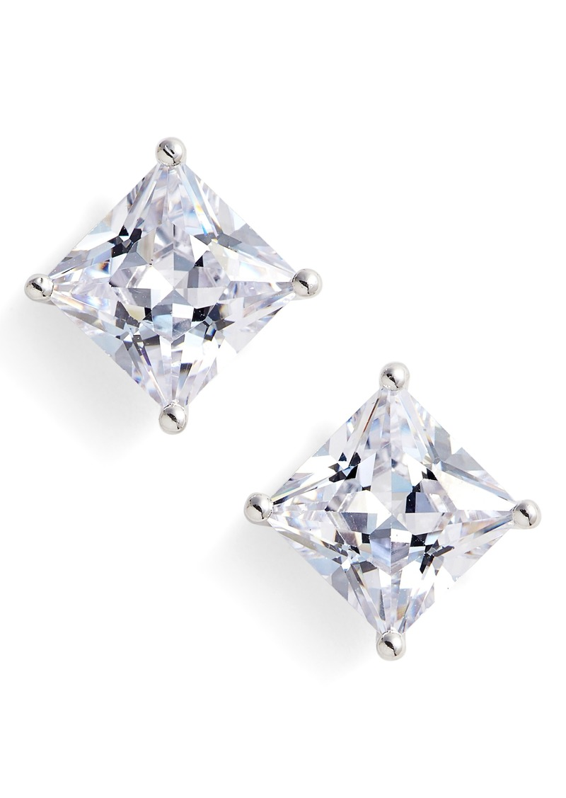Nordstrom 6ct Tw Princess Cut Cubic Zirconia Stud Earrings