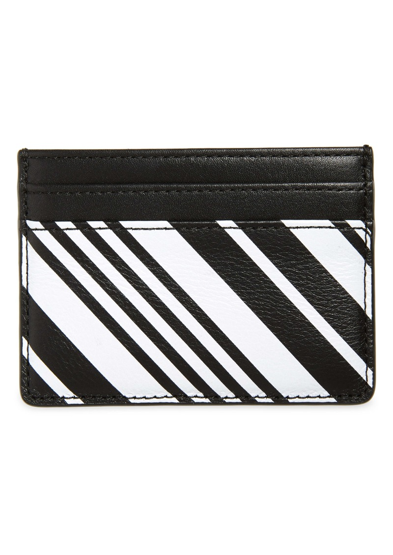 Nordstrom Printed Leather Card Case