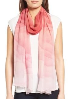 Nordstrom Prismatic Color Play Oblong Silk Scarf