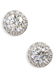 Nordstrom Round 3.48ct tw Cubic Zirconia Stud Earrings