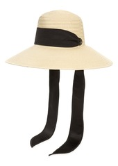 Nordstrom Sash Woven Straw Sun Hat