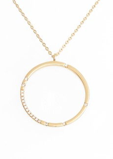 Nordstrom Scatter Pavé Open Circle Pendant Necklace