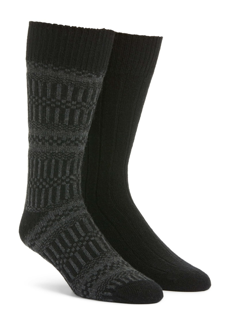 Nordstrom Signature 2-Pack Cashmere Blend Socks