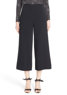 Nordstrom Signature and Caroline Issa Crêpe Wide Leg Crop Pants
