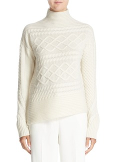 Nordstrom Signature and Caroline Issa Diagonal Cable Cashmere Sweater