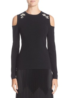 Nordstrom Signature and Caroline Issa Embellished Cold Shoulder Top