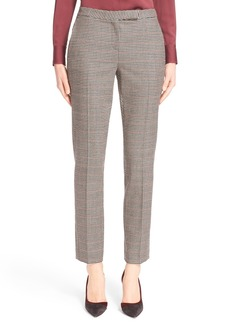 Nordstrom Signature and Caroline Issa Houndstooth Stretch Wool Ankle Pants