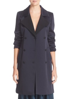 Nordstrom Signature and Caroline Issa Matte Shine Crepe Trench