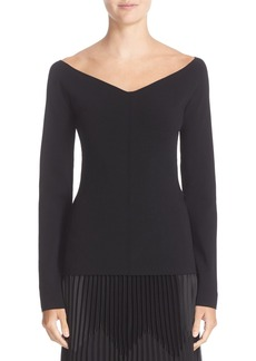 Nordstrom Signature and Caroline Issa Off the Shoulder Bell Sleeve Pullover