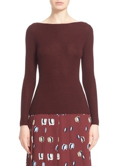 Nordstrom Signature and Caroline Issa Scoop Back Cashmere & Silk Pullover