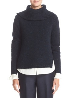 Nordstrom Signature and Caroline Issa Split Wool & Cashmere Sweater