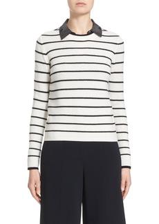 Nordstrom Signature and Caroline Issa Stripe Cashmere Sweater