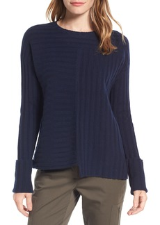 Nordstrom Signature Asymmetrical Ribbed Cashmere Sweater