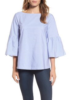 Nordstrom Signature Bell Sleeve Bow Back Top