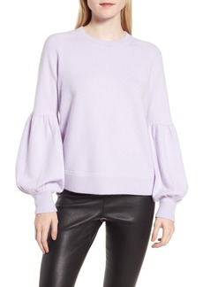 Nordstrom Signature Blouson Sleeve Cashmere Blend Sweater