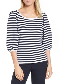 Nordstrom Signature Blouson Sleeve Stripe Sweater