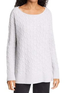 Nordstrom Signature Boat Neck Cable Cashmere Sweater