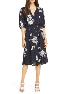 Nordstrom Signature Button Front Stretch Silk Dress