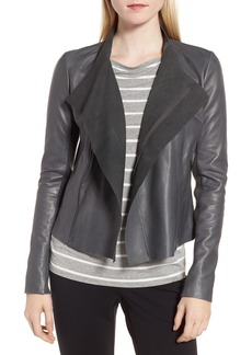 Nordstrom Signature Cascade Front Leather Jacket