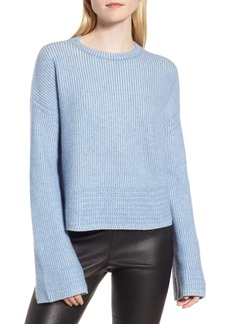 Nordstrom Signature Cashmere & Silk Blend Plaited Pullover