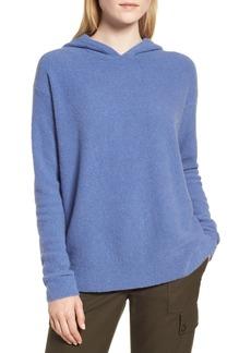 Nordstrom Signature Cashmere Blend Bouclé Hoodie Sweater