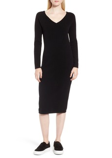 Nordstrom Signature Cashmere Blend V-Neck Midi Dress
