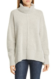 Nordstrom Signature Cashmere Bouclé Turtleneck Sweater