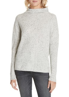 Nordstrom Signature Cashmere Directional Rib Mock Neck Sweater